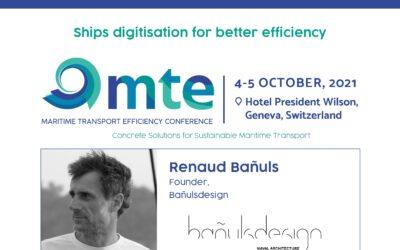Renaud Bañuls at the Maritime Transport Efficiency Conference in Geneva Switzerland, October 4-5, 2021